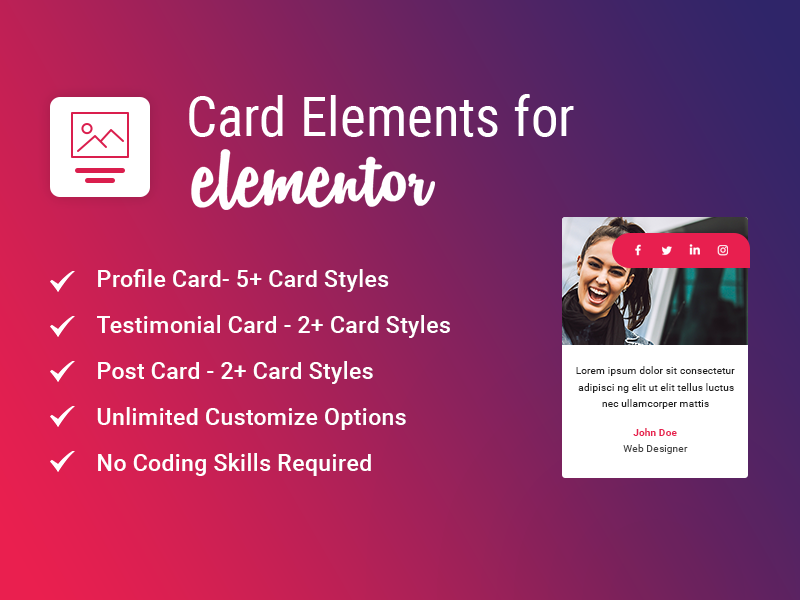 Card Elements for Elementor