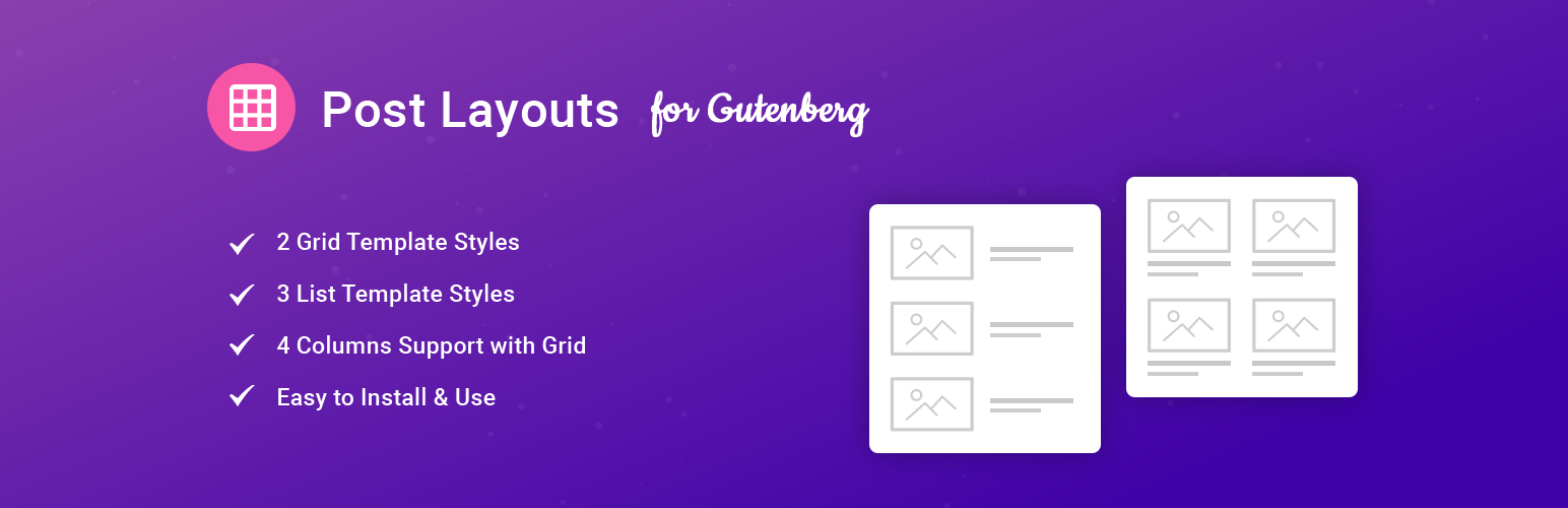 Post Layouts for Gutenberg