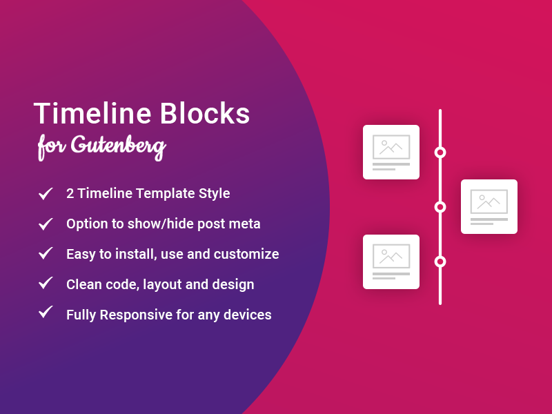 Timeline Blocks for Gutenberg